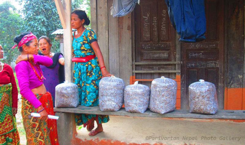 Women Participation and preparation of Mushroom Balls